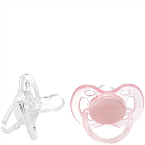 Avent Free Flow Infant Pacifiers in Pink/White - 2 Pack