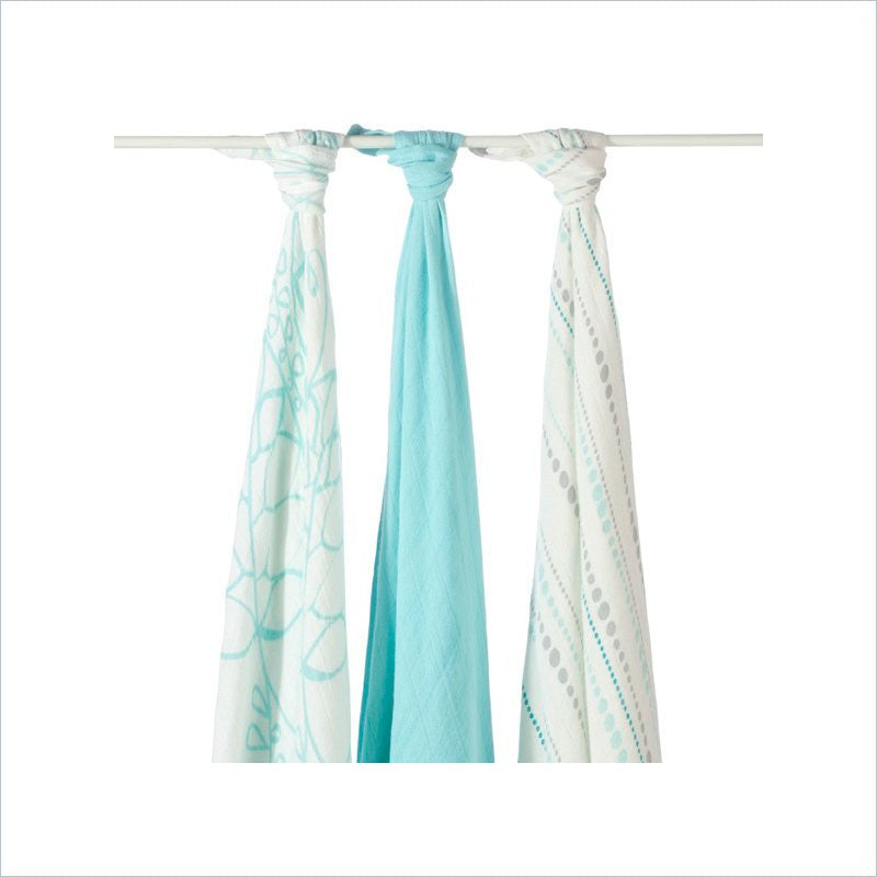 Aden and Anais Bamboo Swaddle 3-pack in Azure