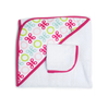JJ Cole Hooded Towel in Pink Butterfly