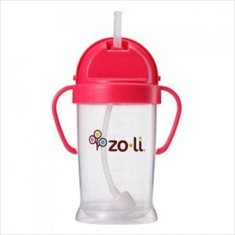 ZoLi Bot XL 9oz Straw Sippy Cup in Pink