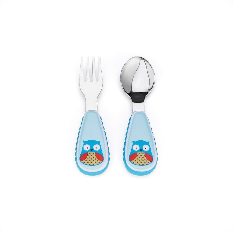 Skip Hop Zootensils Little Kid Fork and Spoon Set in Owl