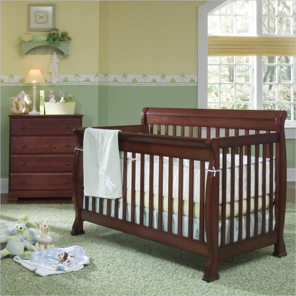 DaVinci Kalani 4-in-1 Convertible Crib and 4 Drawer Chest in Cherry
