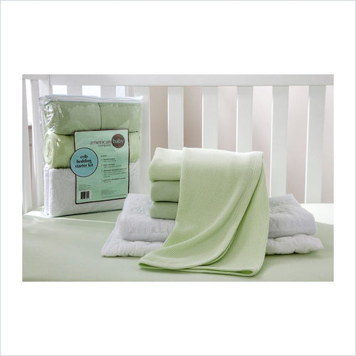 American Baby Company Mini Crib Starter Kit in Celery