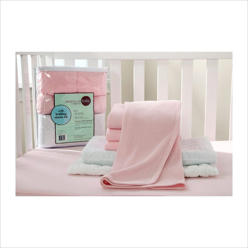 American Baby Company Mini Crib Starter Kit in Pink