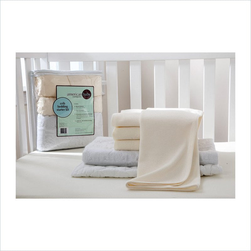 American Baby Company Mini Crib Starter Kit in Ecru