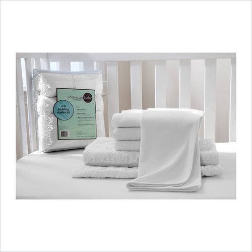 American Baby Company Mini Crib Starter Kit in White