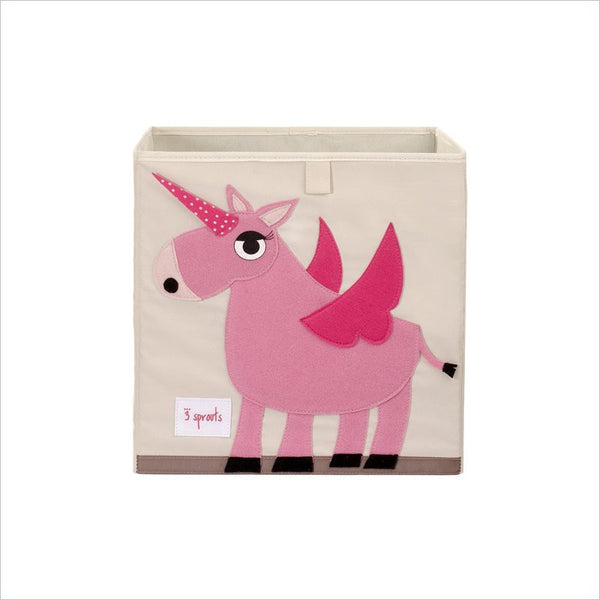 3 Sprouts Unicorn Storage Box in Pink