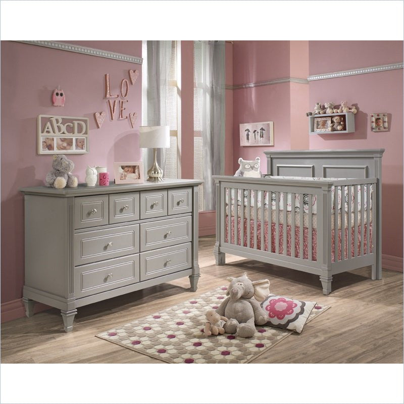 Natart Belmont 5-in-1 Convertible Crib in Stone Gray
