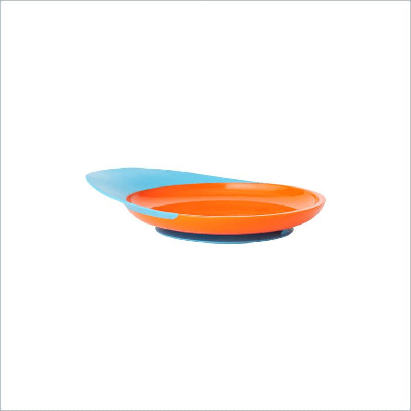 Boon Catch Plate with Spill Catcher in Orange/Blue