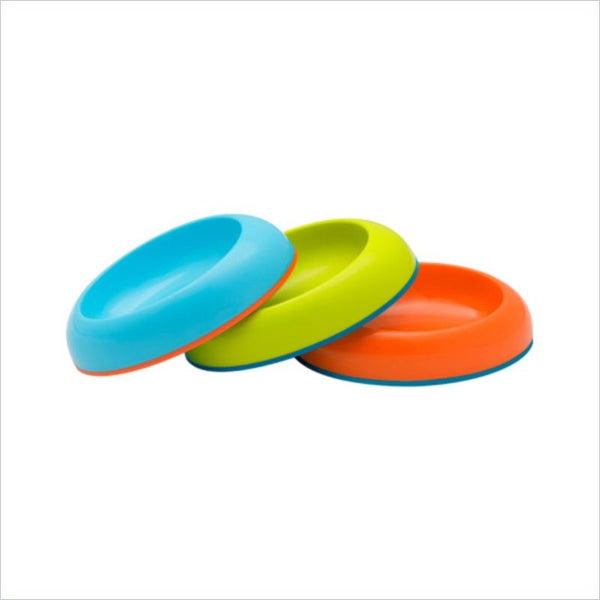 Boon 3 Pack Nonskid Bowls for Boys(Orange/Blue/Green)