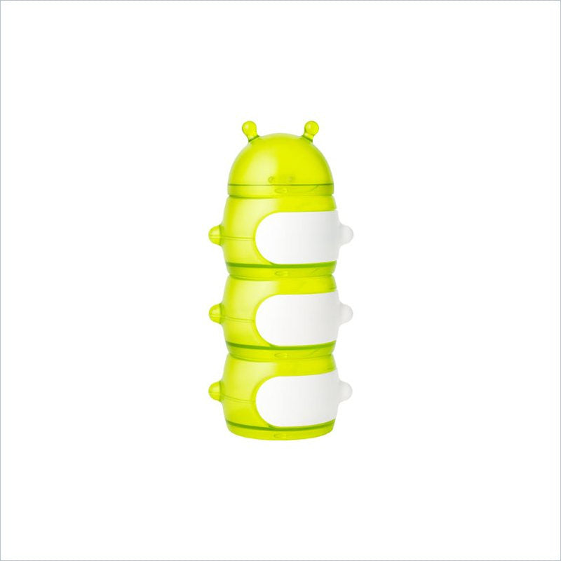 Boon Caterpillar Snack Stack Container in Green/White