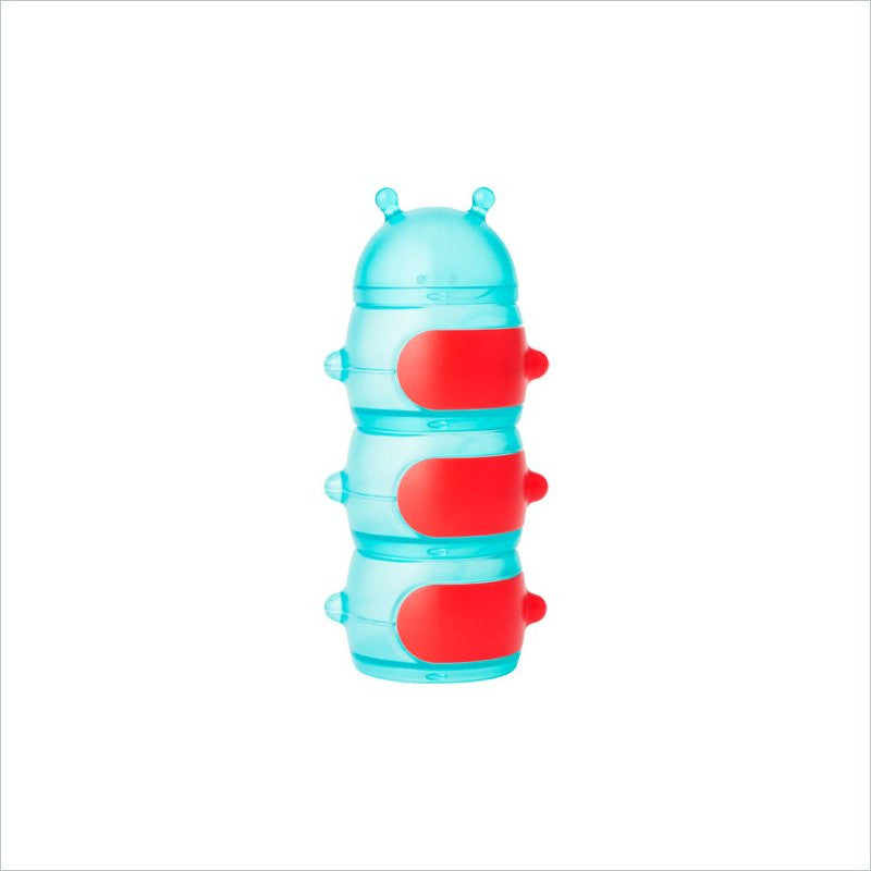 Boon Caterpillar Snack Stack Container in Teal/Red