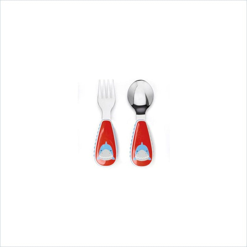 Skip Hop Zootensils Little Kid Fork and Spoon Set in Shark