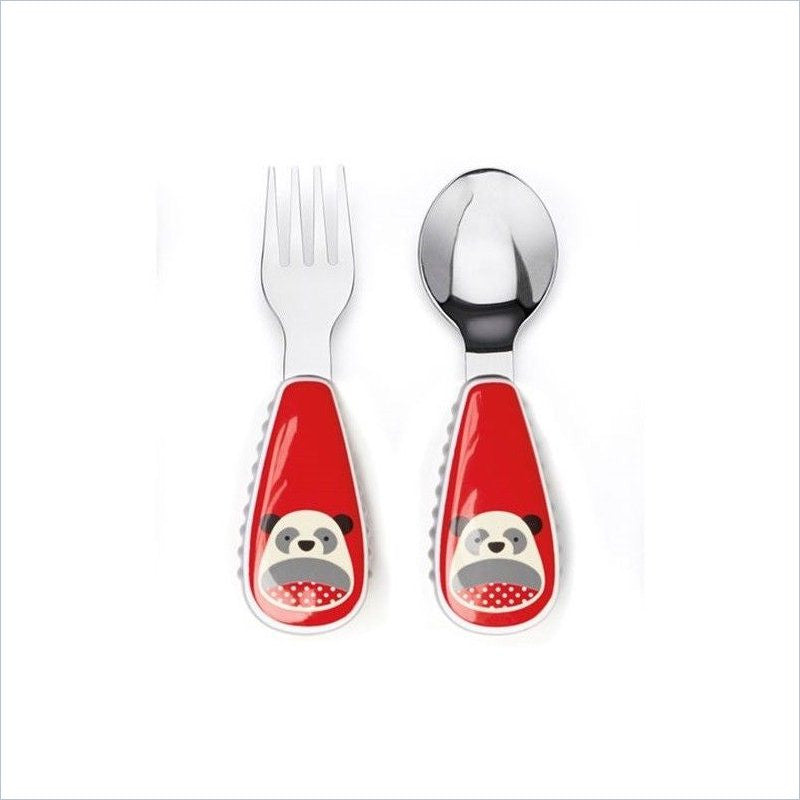 Skip Hop Zootensils Little Kid Fork and Spoon Set in Panda