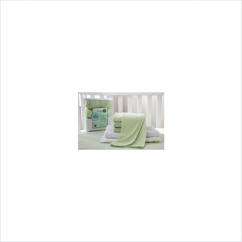 American Baby Company Jersey Mini Crib Sheet in Celery