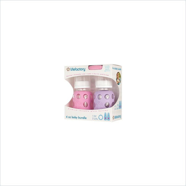 Life Factory Baby Bundle Gift Packs 4 oz Baby Bundles in Pink / Lilac