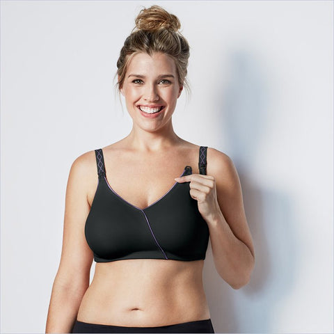 Bravado Design The Essential Embrace Nursing Bra in Black Purple