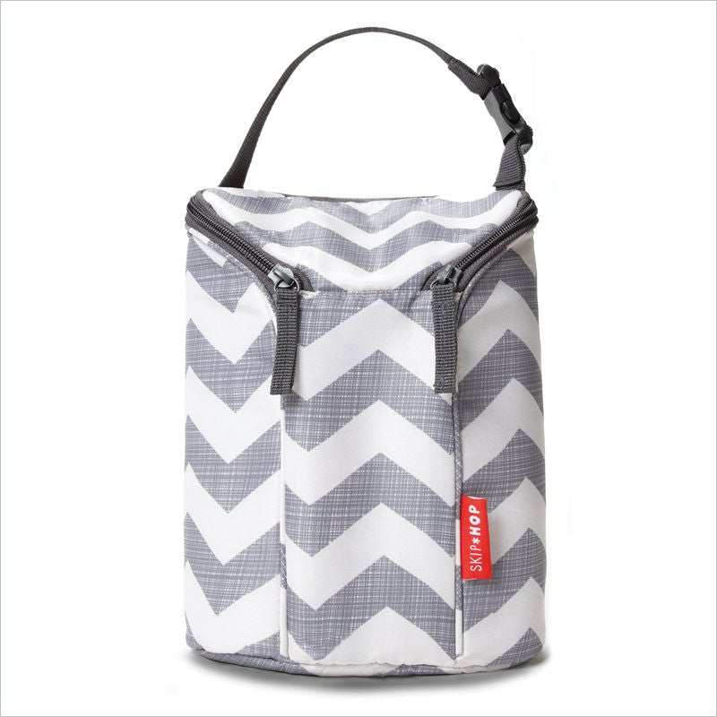 Skip Hop Grab & Go -Double Bottle Bag in Chevron