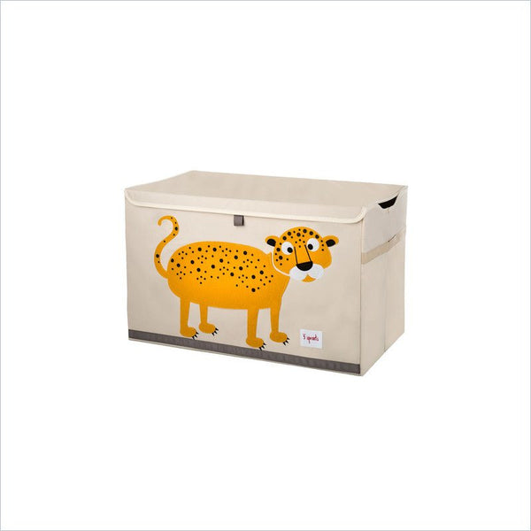 3 Sprouts Toy Chest Leopard in Yellow