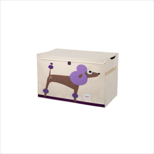 3 Sprouts Poodle Toy Chest in Purple