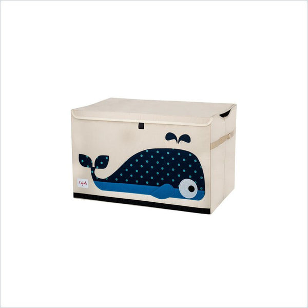 3 Sprouts Whale Toy Chest in Blue