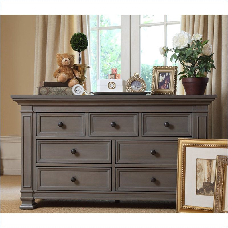 Million Dollar Baby Classic Double Dresser in Washed Grey