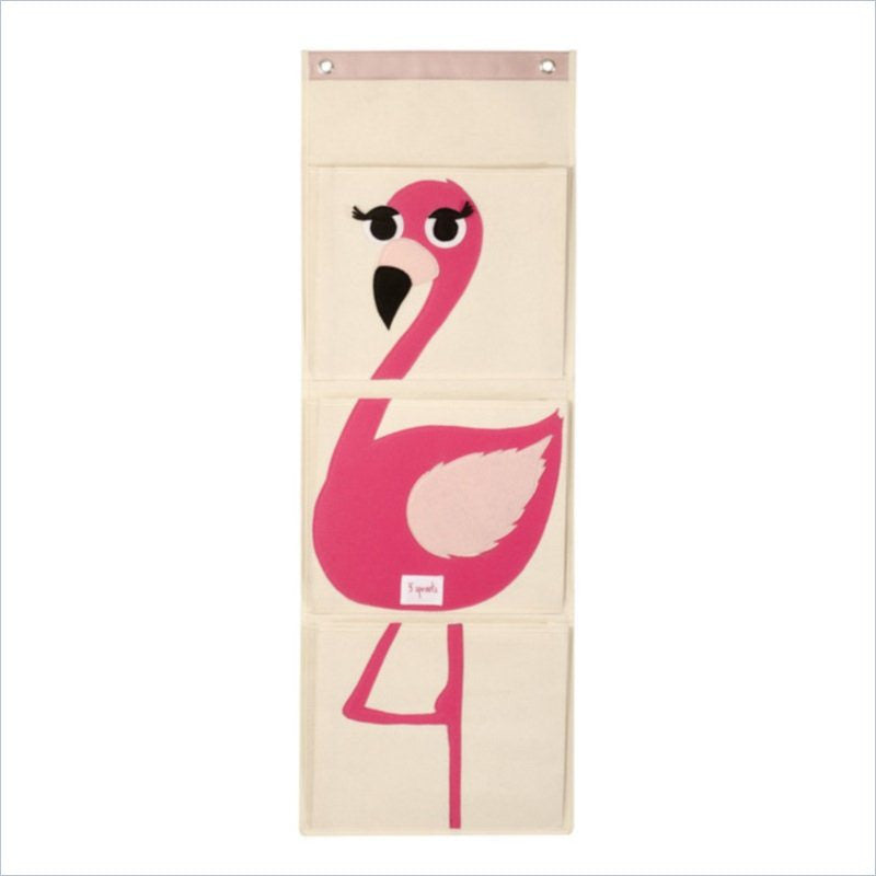 3 Sprouts Wall Organizer Flamingo in Pink