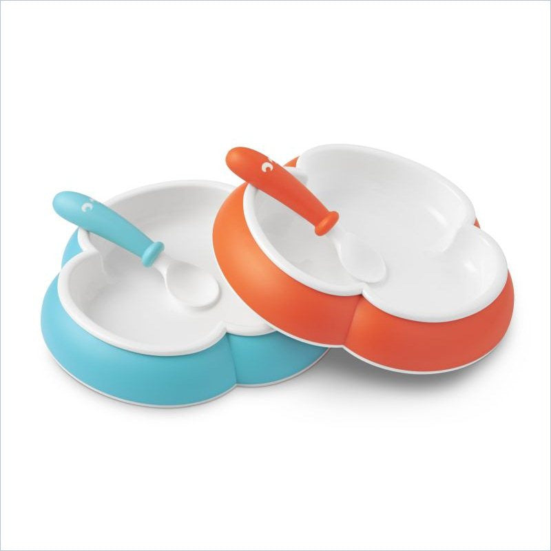 Baby Bjorn Baby Plate and Spoon 2 Pack in Turquoise and Orange