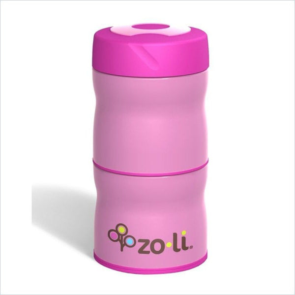 Zoli This & That Double Tiered Vacuum Insulated Food Jar in Pink