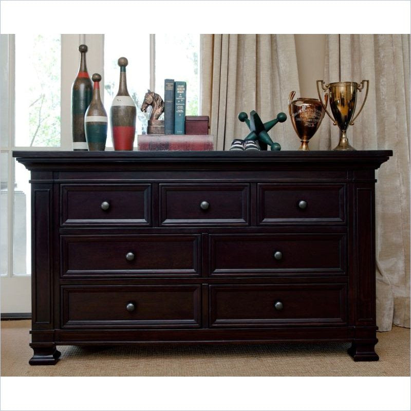 MDB Classic 7 Drawer Dresser in Dark Espresso without Changing tray