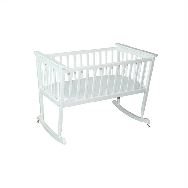 Jolly Jumper Mission Rocking Cradle in White Finish