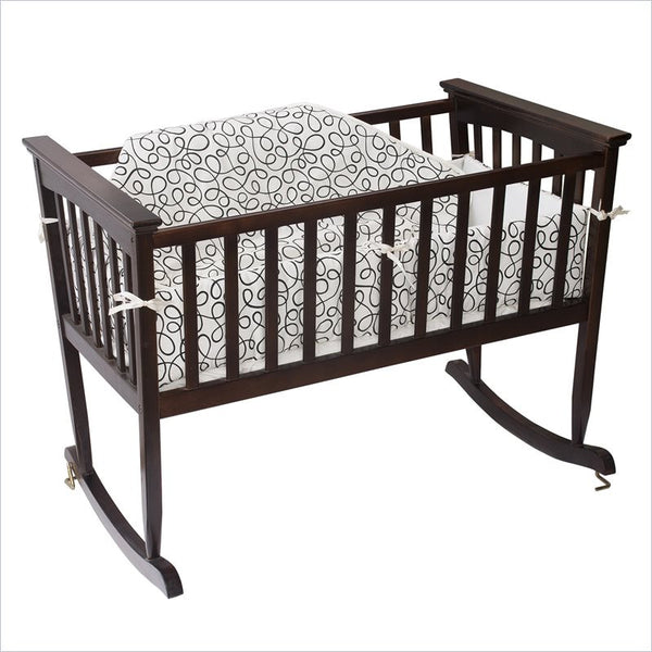 Jolly Jumper Cradle Set in Cream and Black Swirl