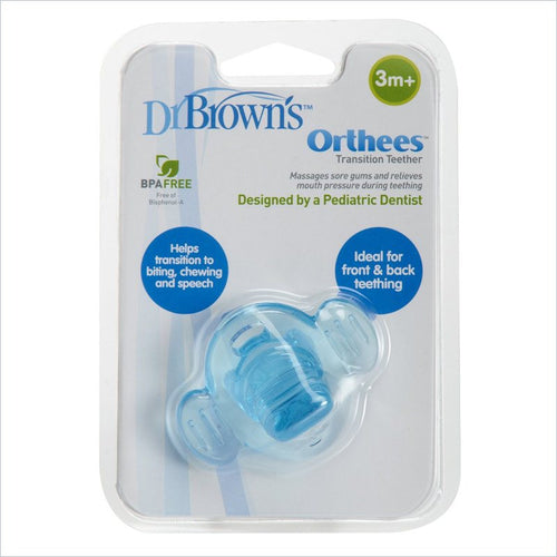 Dr. Brown's Orthees Transition Teether in Blue