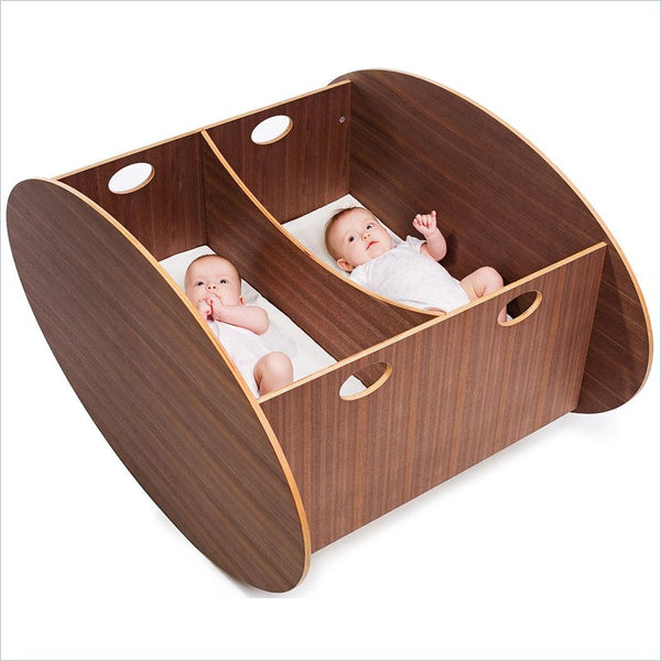 BabyHome So-Ro Double Cradle in Walnut