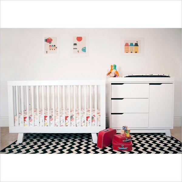 Babyletto Hudson 2 Piece 3-in-1 Convertible Crib Set in White