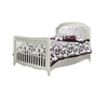 Natart Alexa Double Bed 54 Inch with Rails in Silver