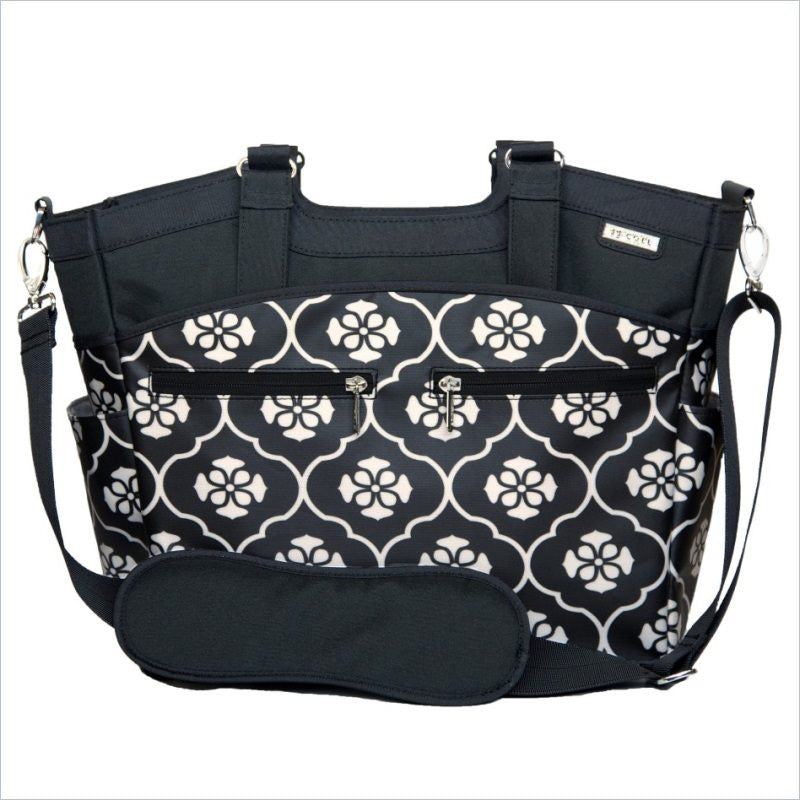 JJ Cole Camber Diaper Bag in Black Foret