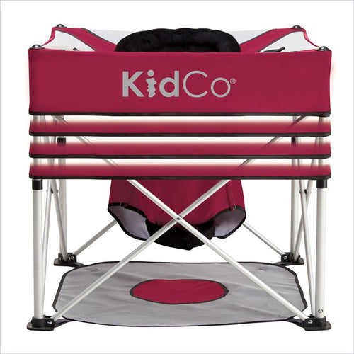 Kidco Go-Pod Plus In Cranberry with Padded Cushion and Aluminum Frame