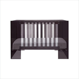 Nurseryworks Vetro Crib in Dark Shadow Acrylic Frame