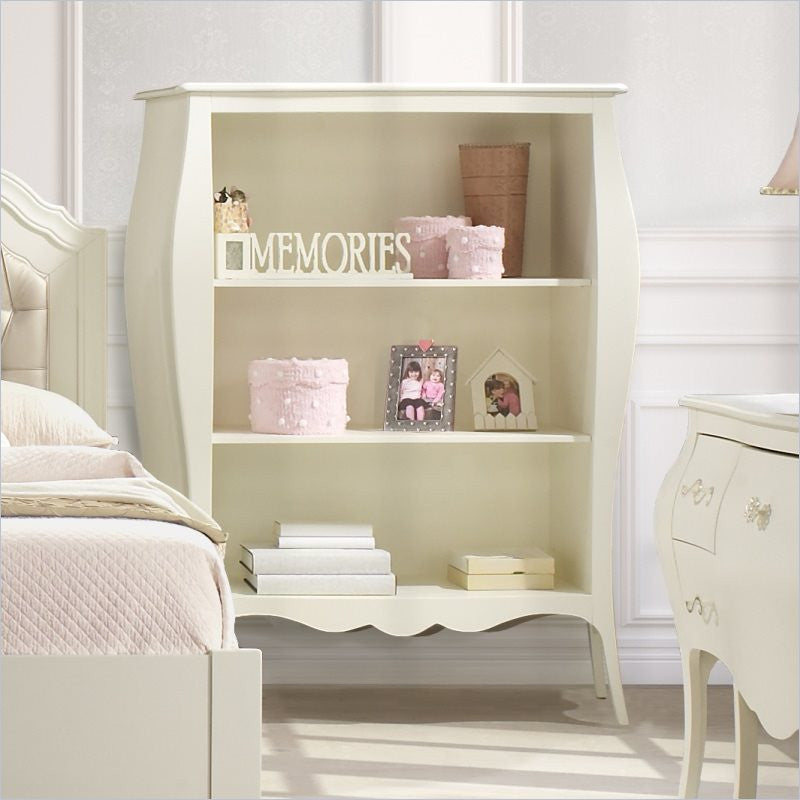 Natart Allegra Bookcase in French White