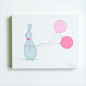 Shenasi Concept Bunny with Pink Balloons