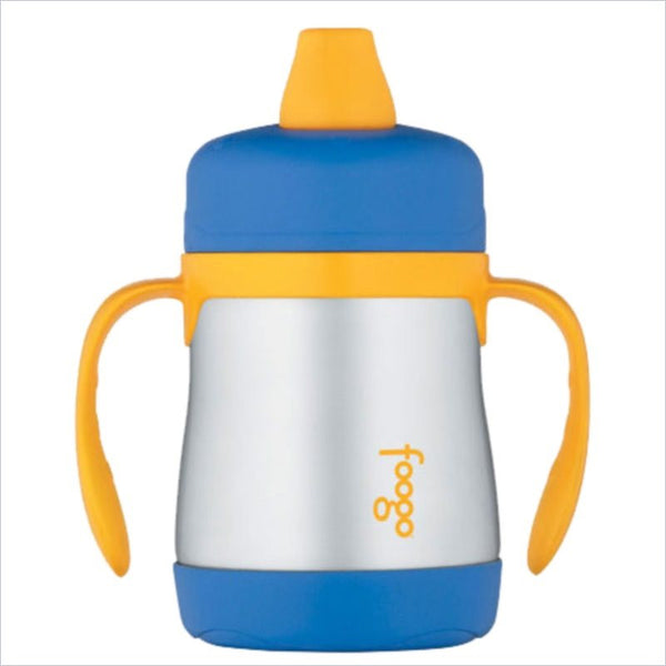 Thermos Foogo Phases Stainless Steel 7oz Leak-Proof Sippy Cup in Blue and Yellow Accents