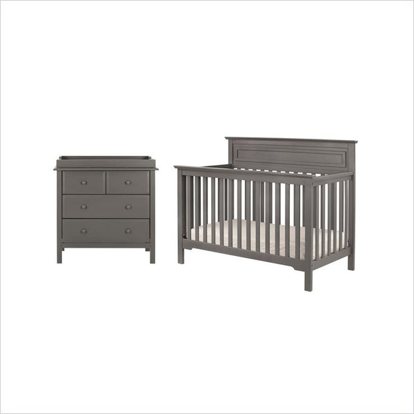 DaVinci Autumn 4-in-1 Convertible Crib and Dresser Set in Slate