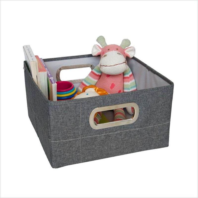 JJ Cole Storage Box 6.5 Inch in Slate Heather