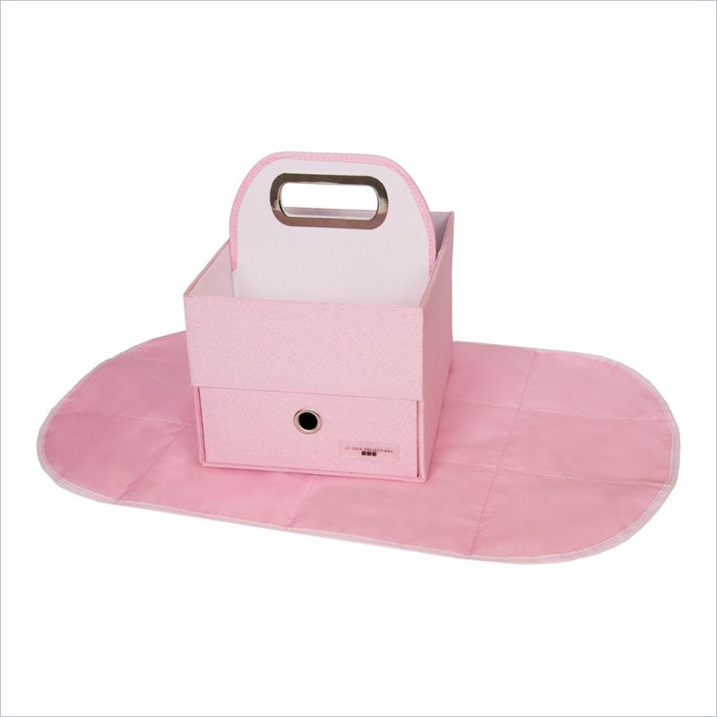 JJ Cole Diapers & Wipes Caddy in Pink Heather