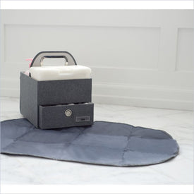 JJ Cole Diapers & Wipes Caddy in Slate Heather