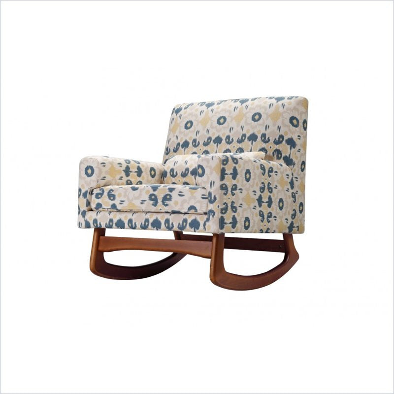 Nurseryworks Sleepytime Walnut Legs Rocker in Limited Edition Bazaar in Spring