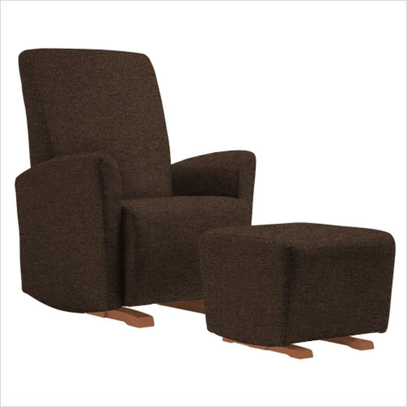 Dutailier Pico Upholstered Harvest Glider Chair in Chocolate