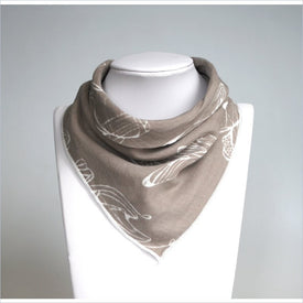 Nest Designs Bibs Bandanas in Fancy Fish Beige