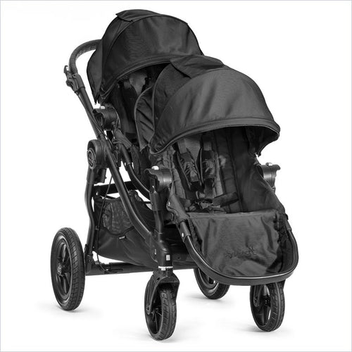 Baby Jogger City Select Black Baby Stroller and Second Seat Set in Black